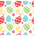 seamless pattern wirh ornate easter eggs vector image