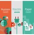 Set of flat design concepts - business electric vector image vector image