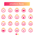 Set of icon emotions face vector image vector image