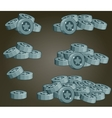 Set Of Silver Coin Piles For Game vector image vector image
