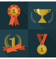 Set of trophy and awards icons vector image vector image