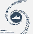 Shoe icon in the center Around the many beautiful vector image vector image