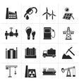 Silhouette Business and industry icons vector image