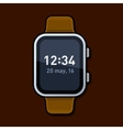 Smart Watch with Digital Time on Screen vector image vector image