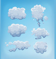 smoke fog and clouds set on blue sky vector image vector image