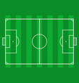 soccer field green grass football court vector image