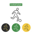 soccer player icon line vector image vector image