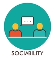 Sociability Message Communication Line icon vector image