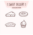 sweet dessert icon set collection logo sign vector image