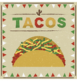 taco decoration vector image vector image