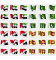 United Arab Emirates Pakistan Sealand Principality vector image