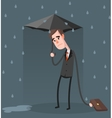 Unlucky Businessman vector image