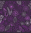violet floral seamless background template for a vector image vector image