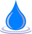 water droplet with ripple graphic vector image