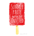 Watercolor ice cream poster with lettering Summer vector image vector image