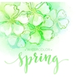Watercolor spring flower background vector image vector image