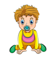 A growing boy with a pacifier vector image