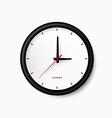 Simple black clock vector image