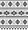 Tribal aztec retro seamless pattern vector image