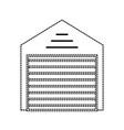 uncolored storage sticker vector image
