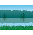 vector tranquil landscape vector image