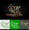 01 oak letter k vector image vector image