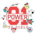 01 power to girls vector image vector image