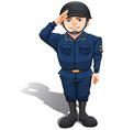 A happy soldier vector image vector image