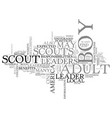 adult boy scout leaders what is expected of them vector image vector image