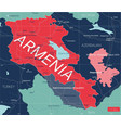 armenia country detailed editable map vector image vector image