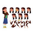 asian teen girl teenager positive person vector image vector image