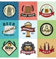 Beer retro labels vector image vector image