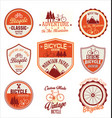 bicycle retro badge collection vector image vector image