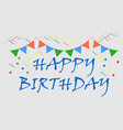 birth day title logo or flat icon vector image vector image