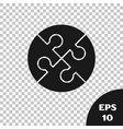black piece puzzle icon isolated on transparent