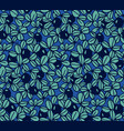 blueberry seamless hand drawn pattern vector image vector image