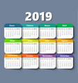 calendar 2018 year design template in vector image