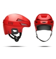 Classic red Hockey Helmet vector image
