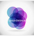 color design element violet logo in eps10 vector image