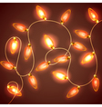 Colorful Glowing Christmas Lights backdrop for new vector image vector image