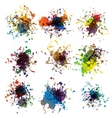Colorful paint splashes on white plus EPS10 vector image vector image