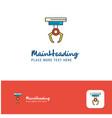 creative hook logo design flat color logo place vector image