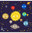 cute solar system vector image