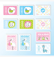 cute stamps vector image vector image