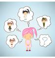 Dream girl cartoon vector image vector image