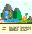 Eco-tourism Hills landscape and camping vector image
