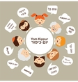 family members saying traditional greeting for yom vector image vector image
