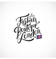 Fashion Boutique London Concept on White vector image vector image