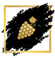 grapes sign golden icon at vector image vector image