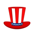 Hat with American flag image on white background vector image